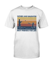Dad Daughter Cricket Classic T-Shirt front
