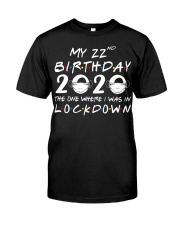 22nd Lockdown Classic T-Shirt front