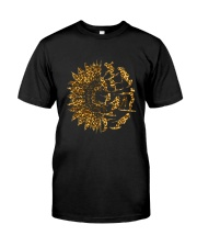Water Skiing Sunflower Leopard Classic T-Shirt front