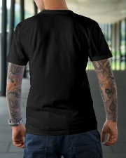 Water Skiing Sunflower Leopard Classic T-Shirt lifestyle-mens-crewneck-back-3