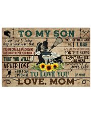 Lacrosse To My Son Mom Sunflower 17x11 Poster front