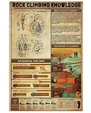 Rock Climbing Knowledge 11x17 Poster front
