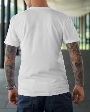 Jet Skiing Leopard pattern Peace Love Classic T-Shirt lifestyle-mens-crewneck-back-3