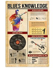 Blues knowledge 11x17 Poster front