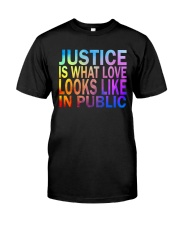 Justice look watercolor Classic T-Shirt front