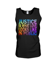 Justice look watercolor Unisex Tank thumbnail