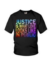 Justice look watercolor Youth T-Shirt thumbnail