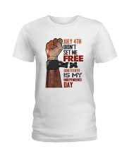 Juneteenth Is My Independence Day Ladies T-Shirt tile