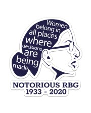 RBG women belong shirt Sticker - Single (Vertical) thumbnail