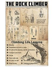 Climbing Life Lessons Knowledge  11x17 Poster front
