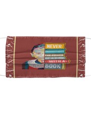 RBG book Cloth face mask front