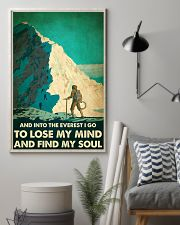 And into the Everest I go mountaineering poster 11x17 Poster lifestyle-poster-1