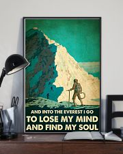 And into the Everest I go mountaineering poster 11x17 Poster lifestyle-poster-2