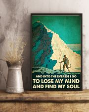 And into the Everest I go mountaineering poster 11x17 Poster lifestyle-poster-3
