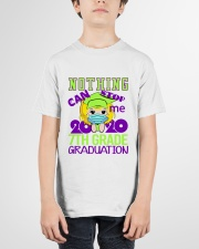 Blonde girl 7th grade Nothing Stop Youth T-Shirt garment-youth-tshirt-front-01