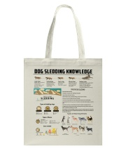 Dog Sledding Knowledge Tote Bag back