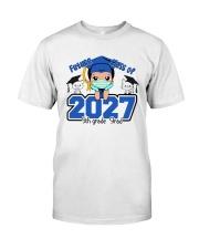 White Boy 5th grade Future grad Classic T-Shirt front