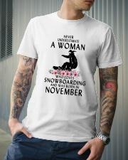 Snowboarding November Woman Love Classic T-Shirt lifestyle-mens-crewneck-front-6