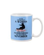 Snowboarding November Woman Love Mug thumbnail