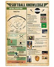 Softball knowledge 11x17 Poster front