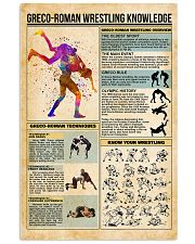 Greco-Roman wrestling knowledge 11x17 Poster front