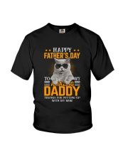 Cat Happy father's day to Amazing Daddy Youth T-Shirt thumbnail