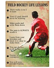 Field hockey Life lessons 11x17 Poster front