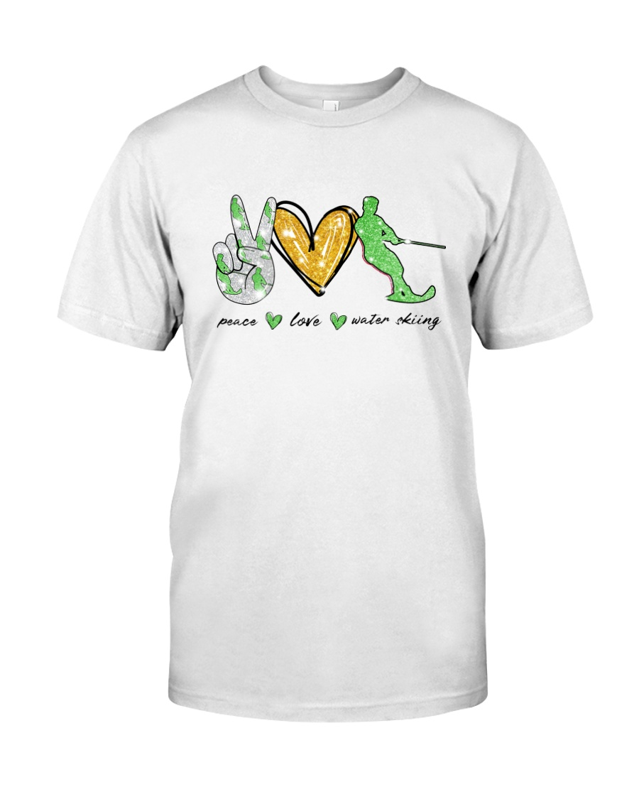 Peace Love Water Skiing Classic T-Shirt