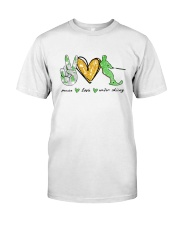 Peace Love Water Skiing Classic T-Shirt front
