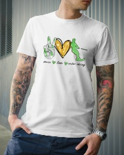 Peace Love Water Skiing Classic T-Shirt lifestyle-mens-crewneck-front-6