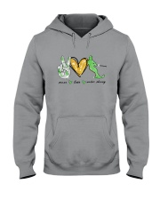 Peace Love Water Skiing Hooded Sweatshirt thumbnail