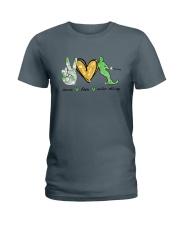Peace Love Water Skiing Ladies T-Shirt thumbnail