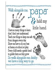 Walk alongside Papa 11x17 Poster front