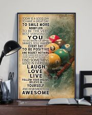 Billiards Today Is A Good Day 11x17 Poster lifestyle-poster-2