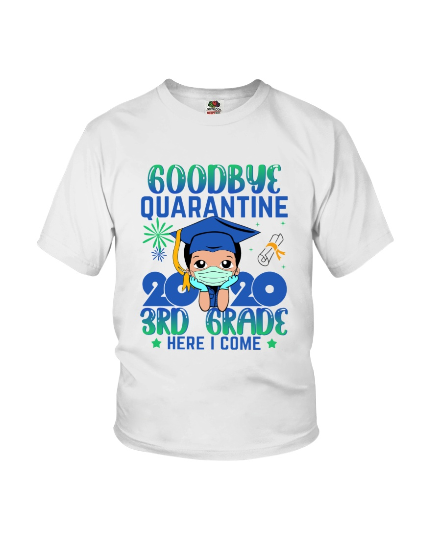 White Boy 3rd grade Goodbye quarantine Youth T-Shirt