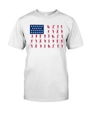 Golf US Flag Classic T-Shirt front