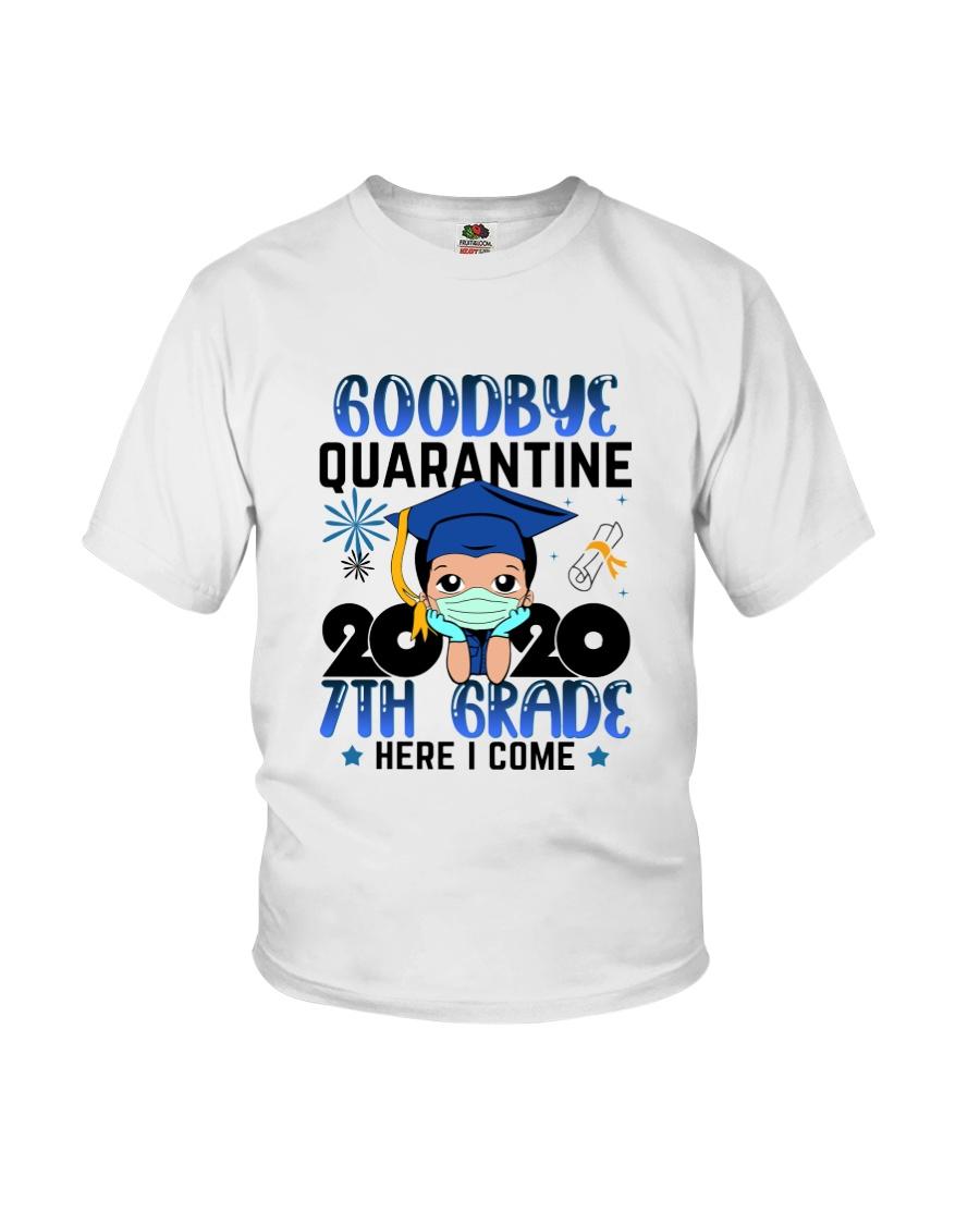 White Boy 7th grade Goodbye quarantine Youth T-Shirt