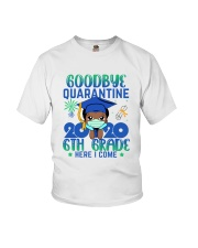 Black Boy 6th grade Goodbye quarantine Youth T-Shirt front