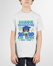 Black Boy 6th grade Goodbye quarantine Youth T-Shirt garment-youth-tshirt-front-01