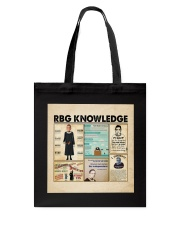 RBG knowledge poster Tote Bag thumbnail