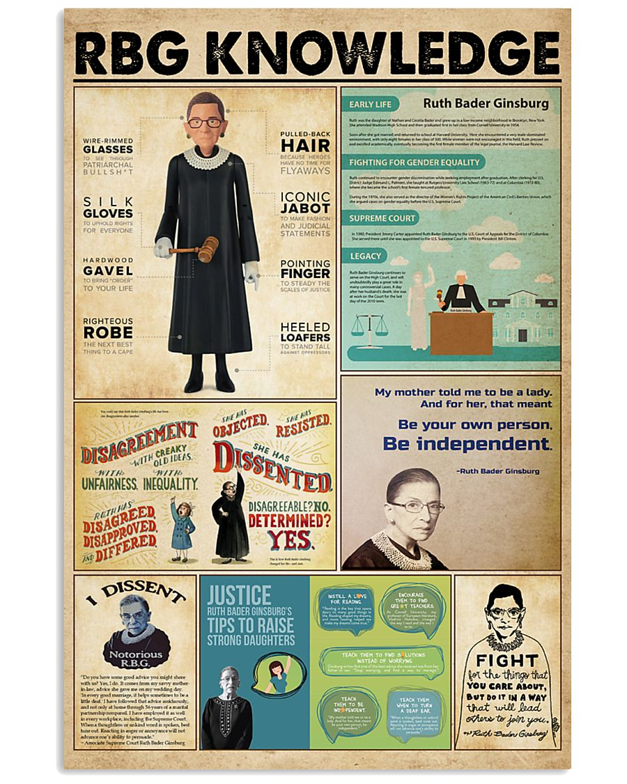 RBG knowledge poster 11x17 Poster