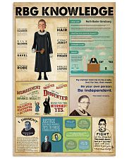 RBG knowledge poster 11x17 Poster front