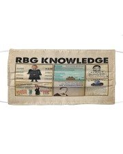RBG knowledge poster Cloth face mask thumbnail