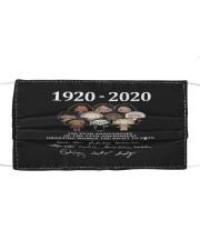100 years 1920 Cloth face mask thumbnail