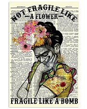 Frida Kahlo fragile upcycled dict 11x17 Poster thumbnail