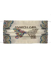 March Girl I Am The Storm Cloth face mask front