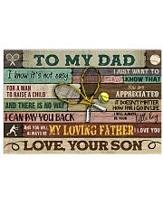 Tennis To My Dad 17x11 Poster front