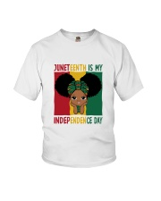 Juneteenth Is My Independence Day Youth T-Shirt front