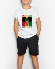 Juneteenth Is My Independence Day Youth T-Shirt lifestyle-youth-tshirt-front-1