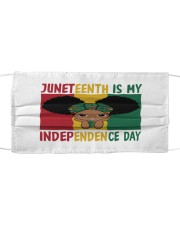 Juneteenth Is My Independence Day Cloth face mask thumbnail